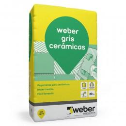 Pegamento Weber Color Gris  x 30Kg