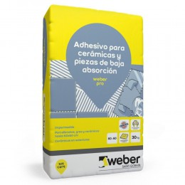 Pegamento Weber Pro Porcellanato x 30Kg