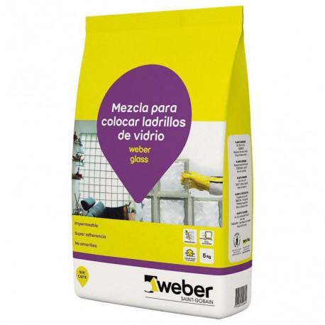 Pegamento Glass Weber x 5 Kg
