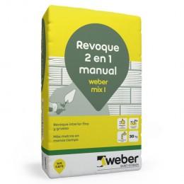 Revoque Mix 2 en 1 Weber x 30 Kg