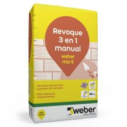 Revoque Exterior Mix 3 en 1 Weber x 30 Kg