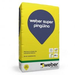Cemento Blanco Pingüino Weber x 25 Kg