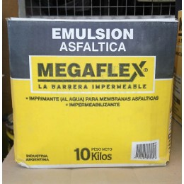 Emulsión Asfáltica Megaflex x 10Kg (Caja)