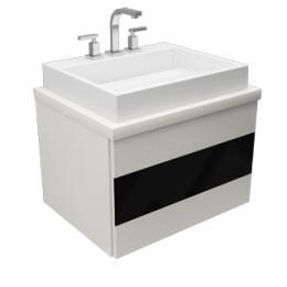 vanitory blanco 80 v/negro