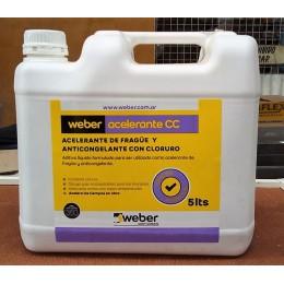 Weber Acelerante x 5 Lts de Frague de Cloruro