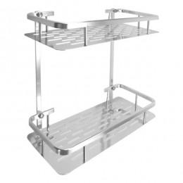 Organizador Rectangular 2 Estantes Aluminio