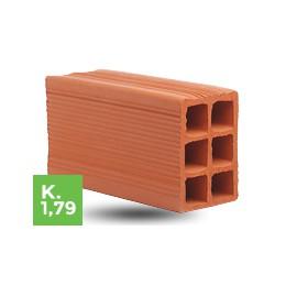 Ladrillo Cerámico Hueco 12x18x33 6 Tubos