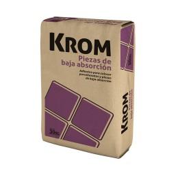 Pegamento Krom x 30 Kg. Porcellanato Baja Absorción